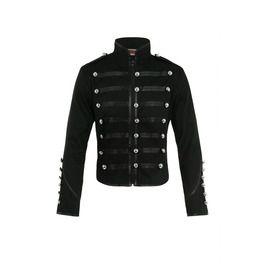 Black Gothic Parade Military Marching Jacket Coat Punk