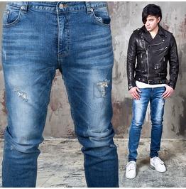 Simple Distressed Slim Denim Jeans 272