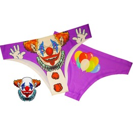 Scary Clown Womens Panties / Underwear Halloween Underwear