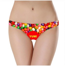Jelly Bean Underwear / Funny Women's Undies Sweet Underwear