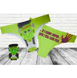 Green Frankenstein Panties / Frankenstein Underwear / Women Horror Undies