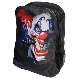 Evil Clown Backpack Rucksack Bag Laptop Tablet Holder Horror Goth Emo Biker