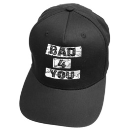 Bad For You Snapback Cap Biker Goth Emo Alternative Skater Baseball Hat