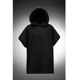 Back Incision Line Sleeveless Hoodie