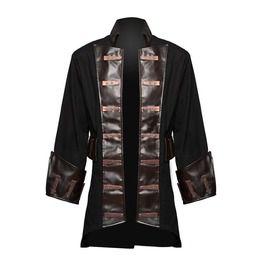 Style Coat Pirate Men Gothic Coat Jacket