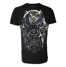 Cult Of Black Arts T Shirt Occult Satanic Biker