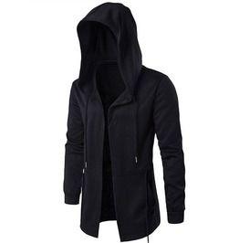 Unzipped black assassin creed cardigan hoodies men plus size hoodies and sweatshirts