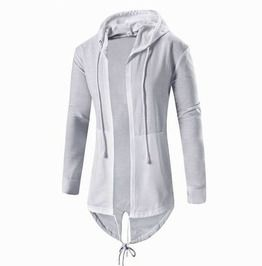 Streetwear Asymmetric Hem Lace up Hollow Out Mantle Hoodie