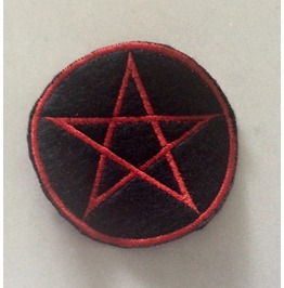 Embroidered Wicca Pentagram Patch Iron/Sew On