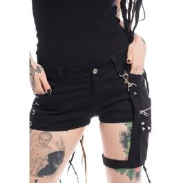 Gothic women shorts with pouch naoko punk women shorts sexy look skirt shorts and capris