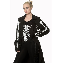 Banned Apparel Bones And Fire Long Line Jacket