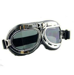 Steampunk Vintage Retro Photochromic Lens Plastic Frame Pilot Goggles