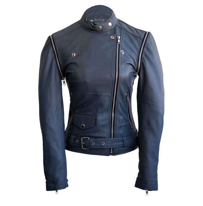Rock A Gray Hat And Leather Jacket For Fall: Women Gray Grey Brando Genuine Leather Jacket With