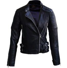 Leather Skin Women Black Brando Genuine Leather Jacket