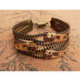 Uno dos tres zipper bracelet bracelets