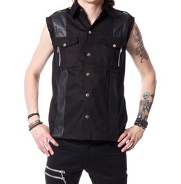 Men Gothic Vest Punk Zane Sleeve Less Shirt For Men