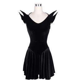 Women Steampunk Dress Gothic Black Sleeveless Joker Personality Short Dress