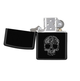 Tattoo Style Skull Zippo Pocket Lighter