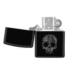 Tattoo Style Skull Zippo Pocket Lighter