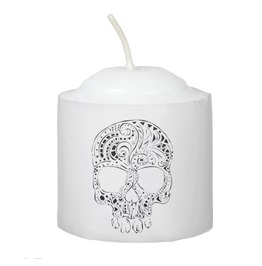 Tattoo Style Skull Candle