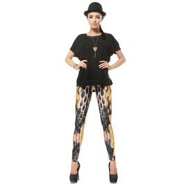 Punk Style Hipster Pattern Leggings Pants