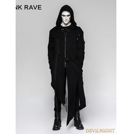Black Gothic Darkly Punk Jacket For Men Y 745
