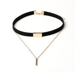 Fashion Women 2 Colour Multilayer Necklace Bz021