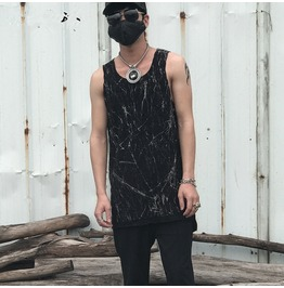 Summer Fashion Men's Side Slit Casual Tank Tops