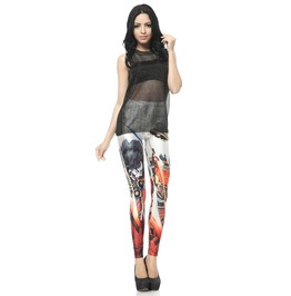 Fashion Pattern Print Leggings Pants