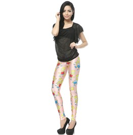 Cartoon Simpsons Pattern Leggings Pants