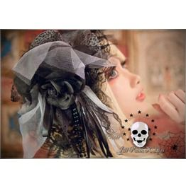 Lolita Goth Medieval Veronica Saintess Code Gentry Derby Top Hat W Jj6001