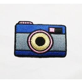 Blue Retro Camera Patch.