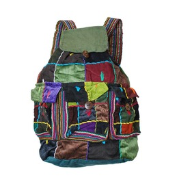 Backpack Slash Patchwork 3 Pocket Handmade Rucksack Hippy Boho Festival Bag
