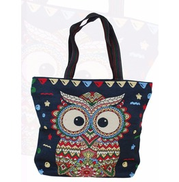 Owl Tote Messenger Shoulder Shopping Bag Hippie Boho Gypsy Ethnic