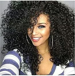 Beautiful Kinky Curly Full Wig 20 22 Inches