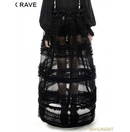 Black Gothic Multi Level Skirt Lq 073