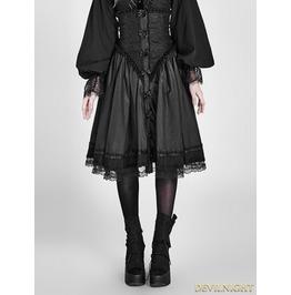 Black Gothic Two Wear Pettiskirt Cloak Lq 075