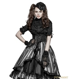 Black Gothic Lolita Accessories Gloves Ls 044