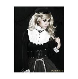 White And Black Gothic Sweet Lolita Shirt Lt 002