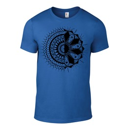 Seriously Soft Blue Shirt With Original Artwork Printed In Rich Black Ink