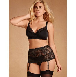 Plus Size All Stretch Lace Garter Belt