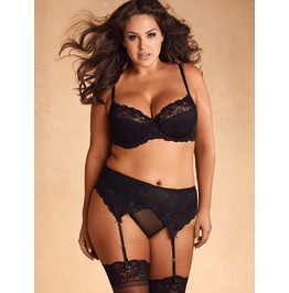 Plus Size Elise Lace Garter Belt