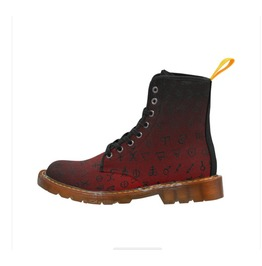 Alchemy Red Ombre Gents Combat Boots
