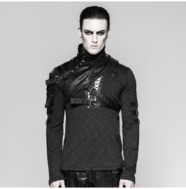 Punk Rave Men's Mechanical Steampunk Faux Leather Rivets Harness/Collar S207