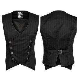Punk Rave Men's Gothic Stripes Buckles Vest Y754