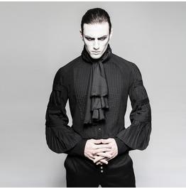 Punk Rave Men's Gothic Black Stripes Shirt With Necktie Y752