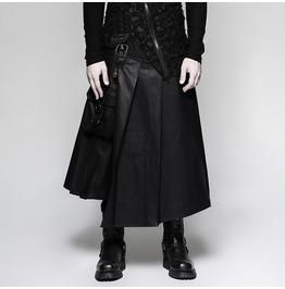 Punk Rave Men's Faux Leather Matador Kilt Q322