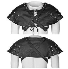 Punk Rave Men's Mechanical Steampunk Faux Leather Rivets Harness/Collar S212