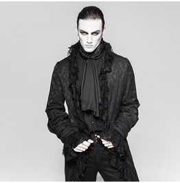 Punk Rave Men's Gothic Swallow Tailed Lace Sleeves Jackets Y759