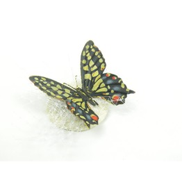 Fascinator Headpiece, Hair Accessory With Pretty Metal Butterfly And Veil
